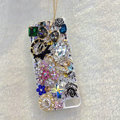 S-warovski crystal cases Bling Bowknot diamond cover for iPhone 5C - Black
