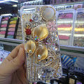 S-warovski crystal cases Bling Flower Swan diamond cover for iPhone 5C - Gold