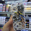 S-warovski crystal cases Bling Flower diamond cover for iPhone 5C - Gray