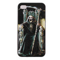 Skull Hard Back Cases Covers Skin for iPhone 5C - Black
