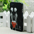 Skull Hard Back Cases Matte Covers Skin for iPhone 5C - Black