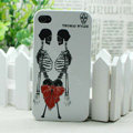 Skull Hard Back Cases Matte Covers Skin for iPhone 5C - White