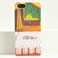 Ultrathin Matte Cases Sleep cat Hard Back Covers for iPhone 5C - Orange