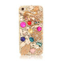 Bling Crystal Cover Rhinestone Diamond Case For iPhone 5S - Gold