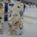 Bling S-warovski crystal cases Angel star diamond covers for iPhone 5S - White