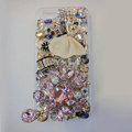 Bling S-warovski crystal cases Ballet girl diamond cover for iPhone 5S - Pink