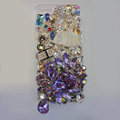 Bling S-warovski crystal cases Ballet girl diamond cover for iPhone 5S - Purple
