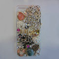 Bling S-warovski crystal cases Ballet girl diamond cover for iPhone 5S - White