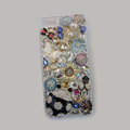 Bling S-warovski crystal cases Beetle Butterfly diamond cover for iPhone 5S - Black