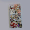 Bling S-warovski crystal cases Beetle Butterfly diamond cover for iPhone 5S - Red