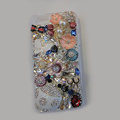 Bling S-warovski crystal cases Beetle Butterfly diamond cover for iPhone 5S - White