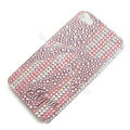 Bling S-warovski crystal cases Bowknot diamond covers for iPhone 5S - Pink
