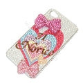 Bling S-warovski crystal cases Bowknot diamond covers for iPhone 5S - Rose