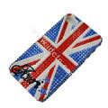 Bling S-warovski crystal cases Britain flag diamond covers for iPhone 5S - Blue