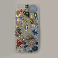 Bling S-warovski crystal cases Cat diamond cover for iPhone 5S - Blue