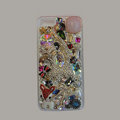 Bling S-warovski crystal cases Cat diamond cover for iPhone 5S - Pink