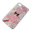 Bling S-warovski crystal cases Clothing diamond covers for iPhone 5S - Pink