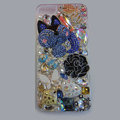 Bling S-warovski crystal cases Fox diamond cover for iPhone 5S - Blue