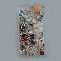 Bling S-warovski crystal cases Gril diamond covers for iPhone 5S - Pink