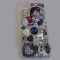 Bling S-warovski crystal cases Heart diamond cover for iPhone 5S - White