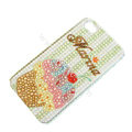 Bling S-warovski crystal cases Ice cream diamond covers for iPhone 5S - Brown