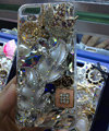 Bling S-warovski crystal cases Leafs diamond cover for iPhone 5S - Silver