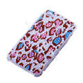 Bling S-warovski crystal cases Leopard diamond covers for iPhone 5S - Red