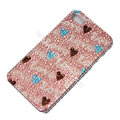 Bling S-warovski crystal cases Love diamond covers for iPhone 5S - Pink