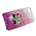 Bling S-warovski crystal cases Love heart diamond covers for iPhone 5S - Purple