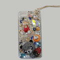 Bling S-warovski crystal cases Panda diamond cover for iPhone 5S - Black