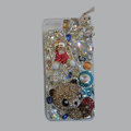 Bling S-warovski crystal cases Panda diamond cover for iPhone 5S - Gold