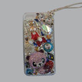 Bling S-warovski crystal cases Panda diamond cover for iPhone 5S - Pink