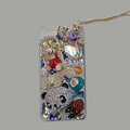 Bling S-warovski crystal cases Panda diamond cover for iPhone 5S - White