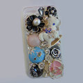 Bling S-warovski crystal cases Pumpkin Trojan diamond cover for iPhone 5S - Blue