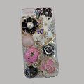 Bling S-warovski crystal cases Pumpkin Trojan diamond cover for iPhone 5S - Pink