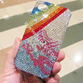 Bling S-warovski crystal cases Rainbow diamond covers for iPhone 5S - Blue