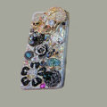 Bling S-warovski crystal cases Skull diamond cover for iPhone 5S - Black