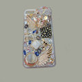 Bling S-warovski crystal cases Skull diamond cover for iPhone 5S - White