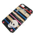 Bling S-warovski crystal cases Skull diamond covers for iPhone 5S - Black