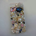Bling S-warovski crystal cases Spider diamond cover for iPhone 5S - White