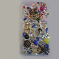 Bling S-warovski crystal cases Star diamond cover skin for iPhone 5S - Gold