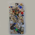Bling S-warovski crystal cases Stars diamond cover for iPhone 5S - White