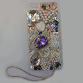 Bling S-warovski crystal cases Swan diamond cover for iPhone 5S - Purple