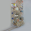 Bling S-warovski crystal cases Swan diamond cover for iPhone 5S - White