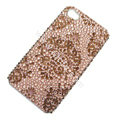 Bling S-warovski crystal cases diamond covers for iPhone 5S - Brown