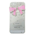 Bowknot diamond Crystal Cases Bling Hard Covers for iPhone 5S - pink