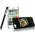 IMAK Gold and Silver Series Ultrathin Matte Color Covers Hard Cases for iPhone 5S - Black