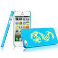IMAK Gold and Silver Series Ultrathin Matte Color Covers Hard Cases for iPhone 5S - Blue