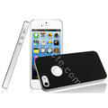 IMAK Matte double Color Cover Hard Case for iPhone 5S - Black