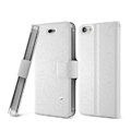 IMAK Slim leather Case support Holster Cover for iPhone 5S - White